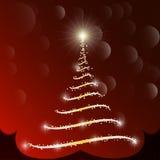 Vetor da árvore de Natal Foto de Stock