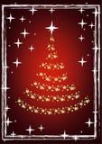 Vetor da árvore do ano novo Imagens de Stock Royalty Free