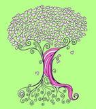 Vetor da árvore do coração Foto de Stock