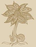 Vetor da árvore do doodle do Henna ilustração royalty free