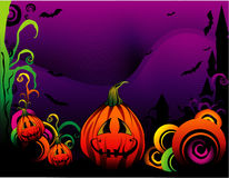 Vetor da abóbora de Halloween Imagem de Stock Royalty Free