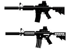 Vetor da arma da espingarda de assalto Fotografia de Stock Royalty Free