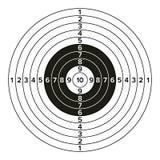 Vetor da arma do alvo Ilustração de papel clássica do alvo do tiro Para o esporte, caçadores, forças armadas, polícia, ilustração ilustração do vetor