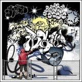 Vetor da arte da rua dos grafittis ilustração stock