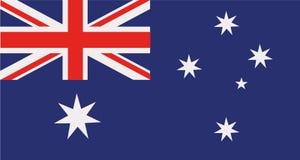 Vetor da bandeira de Austrália ilustração do vetor