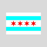 Vetor da bandeira de Chicago Imagem de Stock Royalty Free