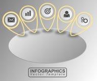Vetor da bandeira de Infographic Fotografia de Stock