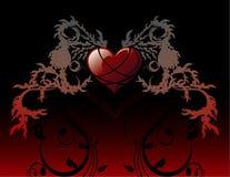 Vetor da bandeira do amor   ilustração stock