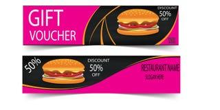 Vetor da bandeira do menu do restaurante do fast food Imagens de Stock