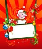 Vetor da bandeira dos carneiros do Natal ilustração stock
