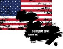 Vetor da bandeira dos EUA Fotos de Stock