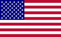 Vetor da bandeira dos EUA ilustração do vetor