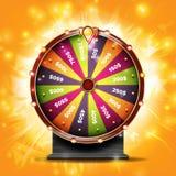 Vetor da bandeira da roda da fortuna Sinal da sorte Sorte da loteria Lucky Jackpot Poster Design Ilustração premiada de incandesc ilustração do vetor