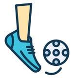 Vetor da batida do futebol que pode facilmente ser alterado ou editado ilustração stock