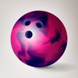 Vetor da bola de boliches ilustração 3d realística Brilhante e limpo ilustração stock