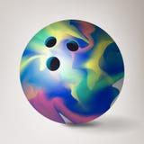 Vetor da bola de boliches ilustração 3d realística Lustroso, brilhante e limpo ilustração do vetor