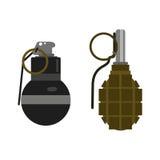 Vetor da bomba da granada Imagem de Stock