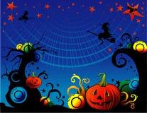 Vetor da bruxa dos desenhos animados de Halloween Fotografia de Stock