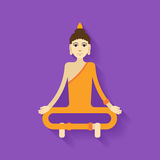 Vetor da Buda liso Imagem de Stock Royalty Free