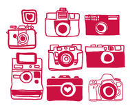 Vetor da câmera a mão livre Fotos de Stock Royalty Free