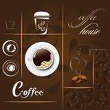 Vetor da casa do café Imagem de Stock