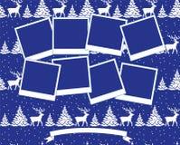 Vetor 2019 da colagem da foto do Natal e do ano novo ilustração royalty free