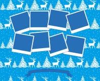 Vetor 2019 da colagem da foto do Natal e do ano novo ilustração stock