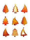 Vetor da coleção da árvore de Natal Imagens de Stock