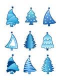 Vetor da coleção da árvore de Natal Fotos de Stock Royalty Free