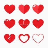 Vetor da coleção dos corações Imagem de Stock