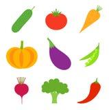 Vetor da coleção dos vegetais Imagens de Stock Royalty Free