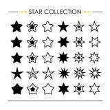 Vetor da coleção do ícone da estrela Fotografia de Stock Royalty Free