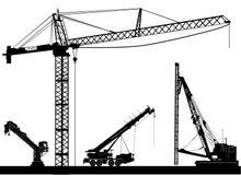Vetor da construção Imagens de Stock Royalty Free