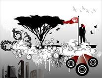Vetor da contaminação   ilustração do vetor
