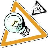 Vetor da eletricidade da luz da ideia do projeto da lâmpada Fotografia de Stock