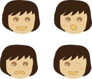 Vetor da emoção da menina Imagens de Stock