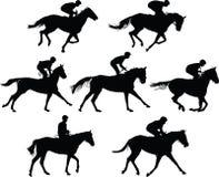 Vetor da escola de equitação fotos de stock royalty free