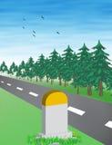 Vetor da estrada Imagem de Stock