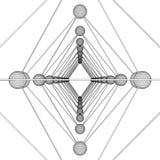 Vetor da estrutura da molécula do ADN do Octahedron Imagens de Stock Royalty Free
