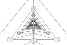 Vetor da estrutura da molécula do ADN do tetraedro Fotografia de Stock