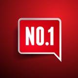 Vetor da etiqueta de No.One - número um Imagens de Stock Royalty Free