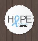 Vetor da fita azul da conscientização da próstata Fotografia de Stock