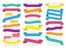 Vetor da fita da bandeira da etiqueta da etiqueta Foto de Stock