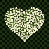 Vetor da flor do coração Imagem de Stock Royalty Free