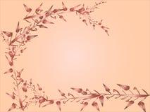 Vetor da flor e das folhas do coração para o fundo ilustração royalty free