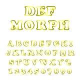 Vetor da fonte moderna e do alfabeto corajosos ilustração royalty free
