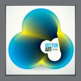 Vetor da forma abstrata moderna, inclinação da forma da flor 3d 3d fl Fotos de Stock Royalty Free