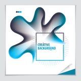 Vetor da forma abstrata moderna, inclinação da forma da flor 3d 3d fl Imagens de Stock