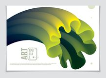 Vetor da forma abstrata moderna, inclinação da forma da flor 3d 3d fl Imagem de Stock
