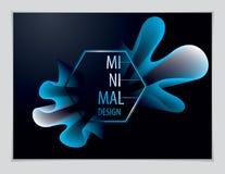Vetor da forma abstrata moderna, inclinação da forma da flor 3d 3d fl ilustração stock